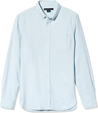 French Connection Camisa Oxford de manga larga con botones para hombre - Azul - XX-Large: Amazon.es: Ropa y accesorios