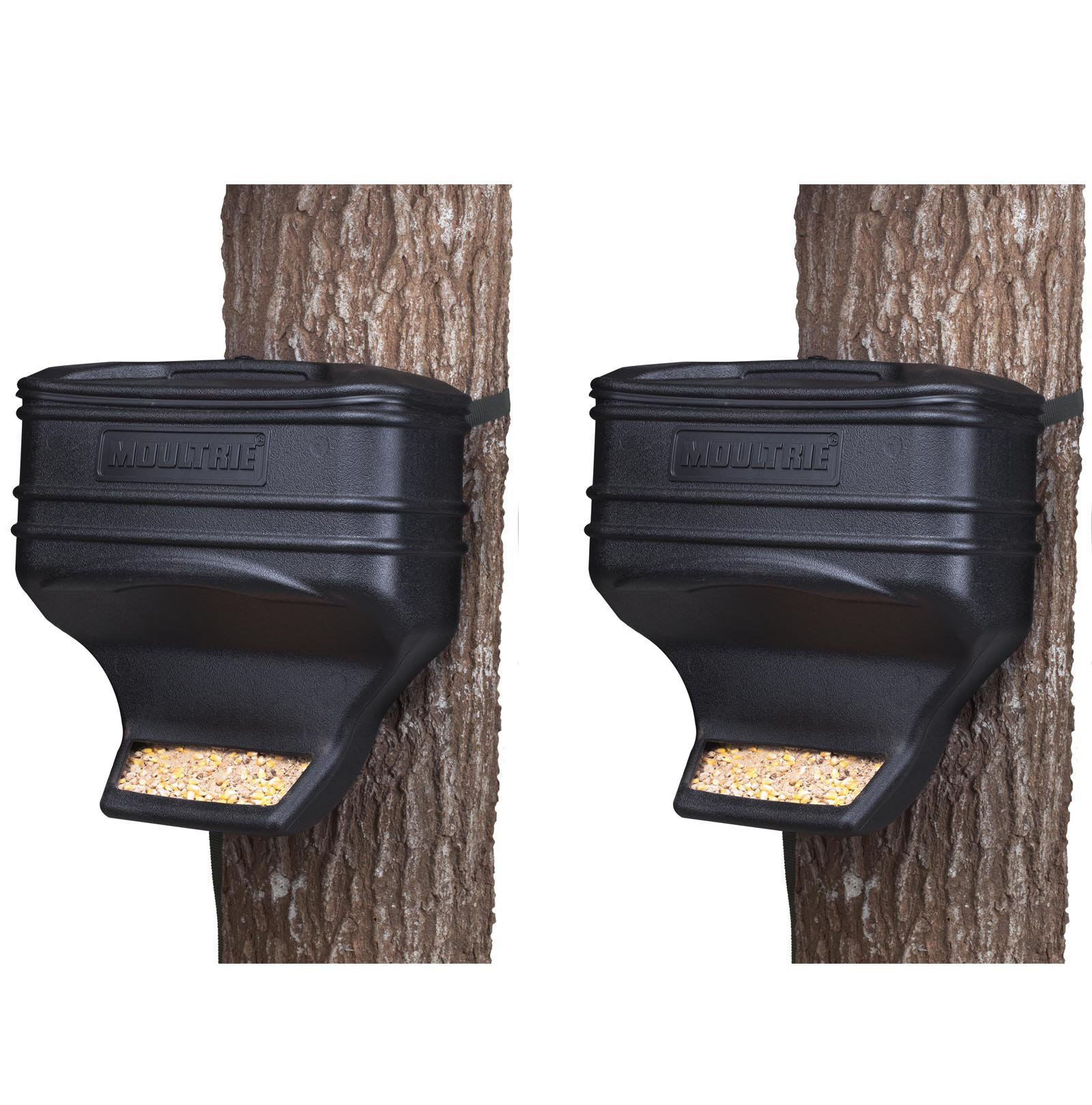 (2) Moultrie Feed Station Food Dispensing Gravity Deer Feeder Kits | MFG-13104