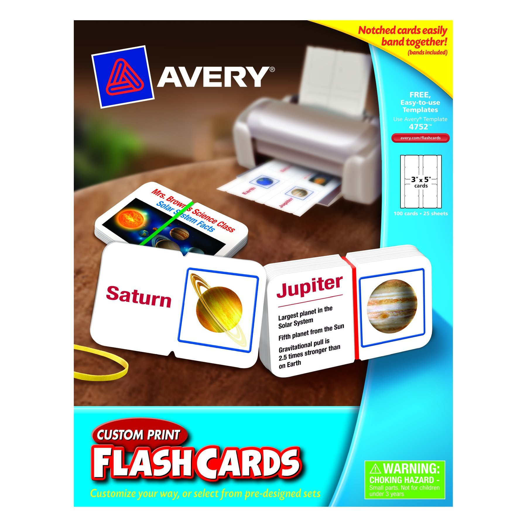 Avery AVE04752 Flash Cards Custom Print by Avery (Image #1)
