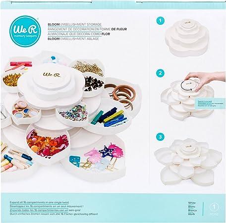 We R Memory Keepers Embellishment Caja para almacenar Adornos Bloom Storage White, Blanco, 28.7 X 16.5 X 28.7 Cm: Amazon.es: Hogar