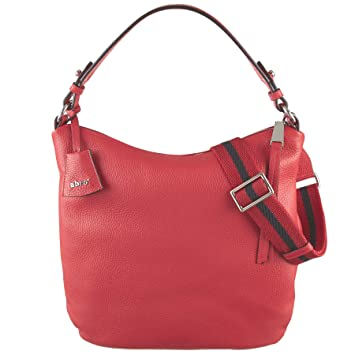 24c1cbaef9938 abro Beuteltasche Calf Adria in rot ab-28108-37-60  Amazon.de ...