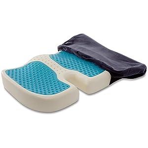 TravelMate Gel-Enhanced Memory Foam Seat Cushion