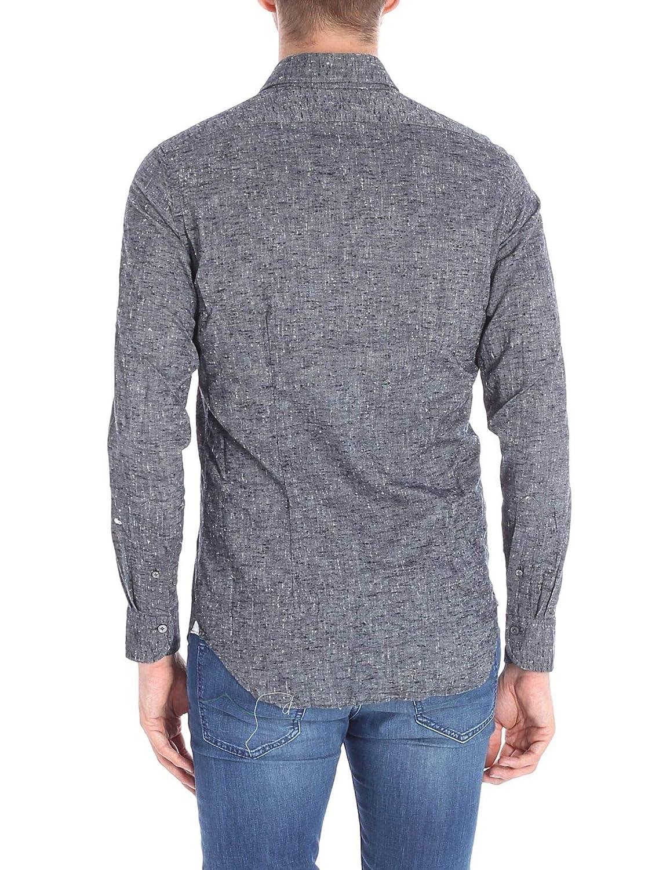 Bagutta Luxury Fashion Mens BSIENA08284090 Grey Shirt Spring Summer 19