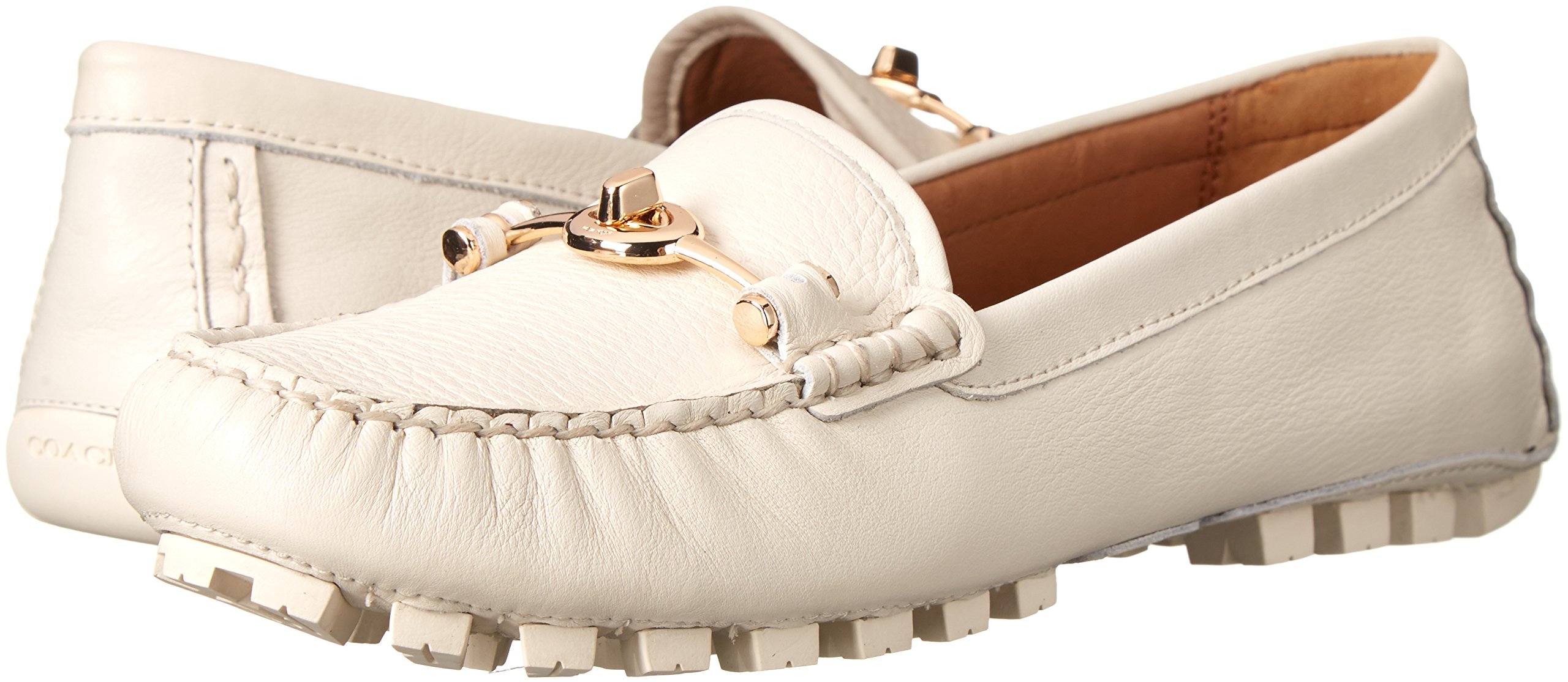 COACH Women's Arlene Chalk Pebble Grain Leather Flat by Coach (Image #6)
