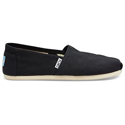 Toms Women's Classic Canvas Black Slip-on Shoe - 8.5 B(M) US | Loafers & Slip-Ons