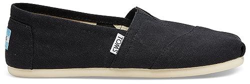 Toms Women's Classic Canvas Black Slip-on Shoe - 10 B(M) US