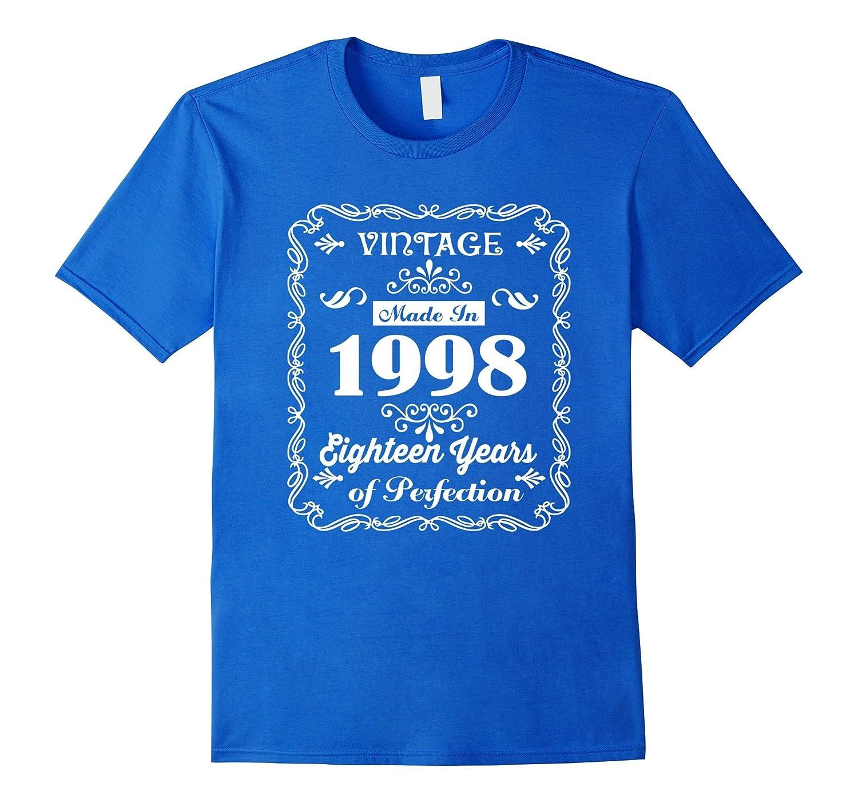 18th Birthday Gift Idea 18 Year Old Boy Girl Shirt 1998t RT