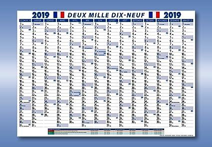 Calendario 2019 piegato con vacanze