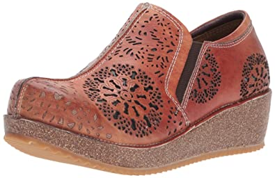 L'Artiste by Spring Step Women's Yanni Slip-on Loafer, Camel, 35