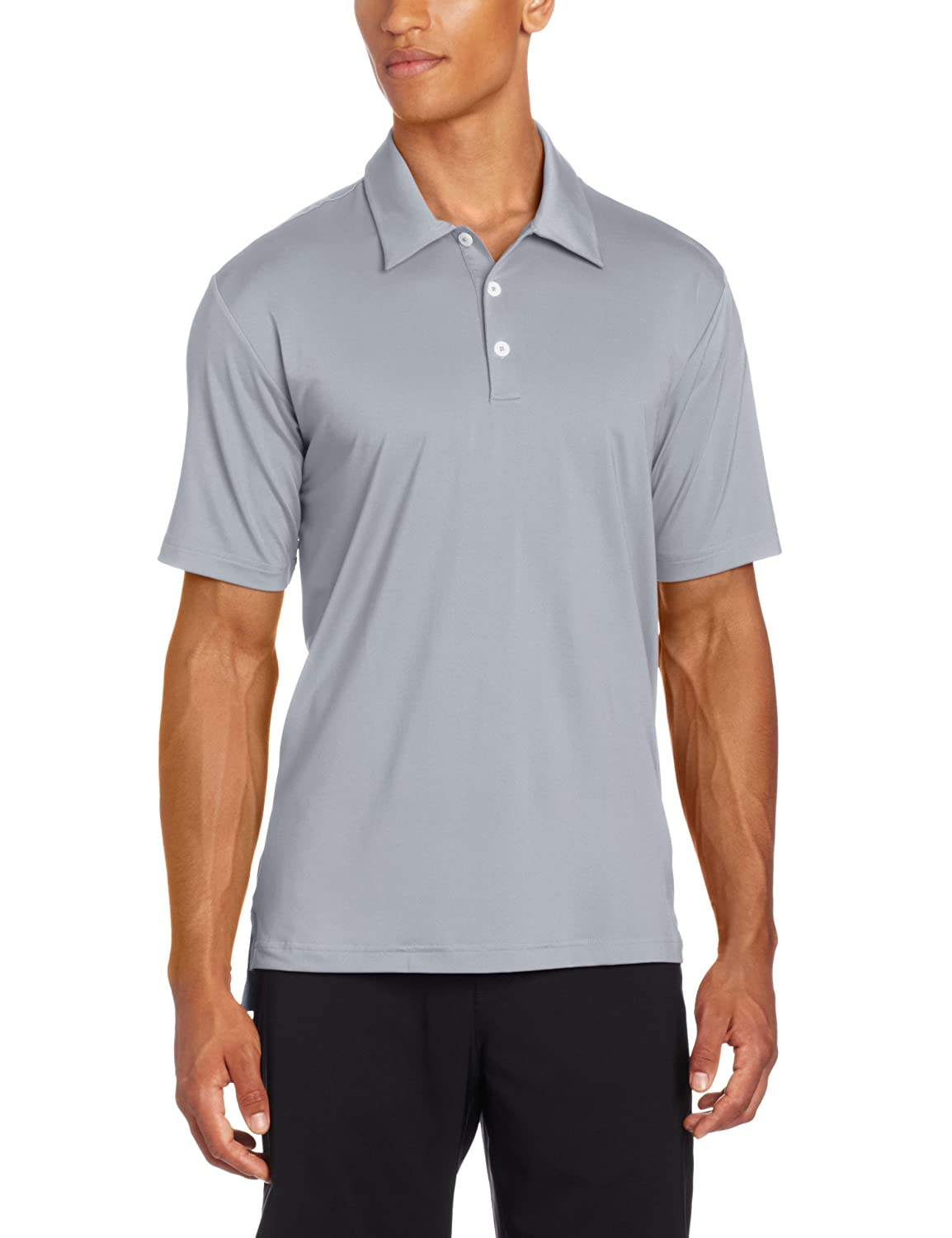 adidas Golf Mens Climalite Solid Stretch Jersey Polo, Chrome ...
