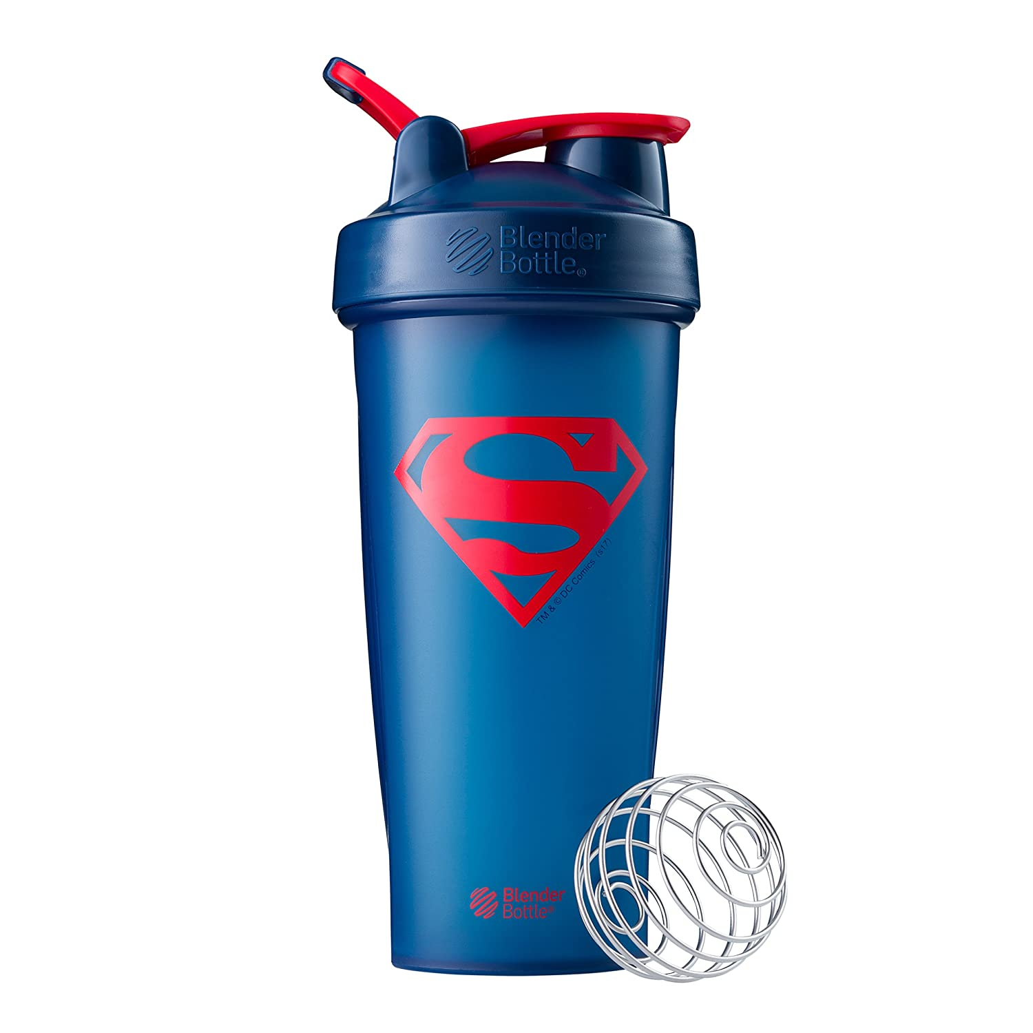 BlenderBottle Justice League Superhero Mixing Cups – Classic 28 Ounce, Superman