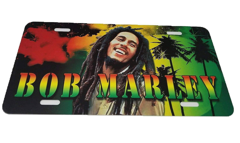 BUNFIREs Bob Marley Jamaican Flag 6x12 Aluminum Metal Novelty Auto License Plate Tag
