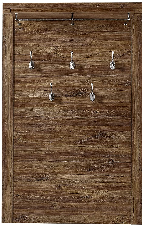 Stella Trading BLCC303040 Garderobepaneel in Akazie dunkel Nachbildung, circa 100 x 158 x 25 cm
