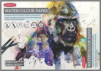 350gsm 15 sheets A4 A3 NOT Seawhite Watercolour Pad