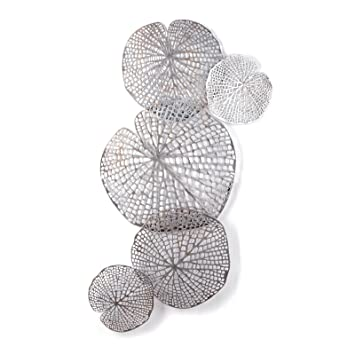 einzigartige wanddeko pure flowers metall 62 cm silber braun wanddekoration blumen. Black Bedroom Furniture Sets. Home Design Ideas
