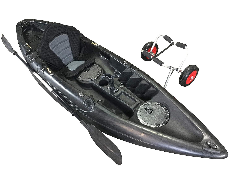 Cambridge Kayak de un asiento para pesca con carrito, Unisex, Single Sit On Top, negro, medium: Amazon.es: Deportes y aire libre