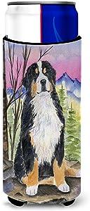 Caroline's Treasures SS8336MUK Bernese Mountain Dog Ultra Beverage Insulators for slim cans, Slim Can, multicolor