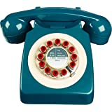 Wild Wood 746 Phone, Retro Design, Petrol Blue