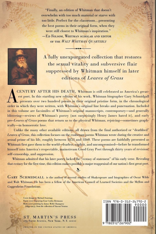 Walt Whitman Selected Poems 1855 1892 Walt Whitman Gary