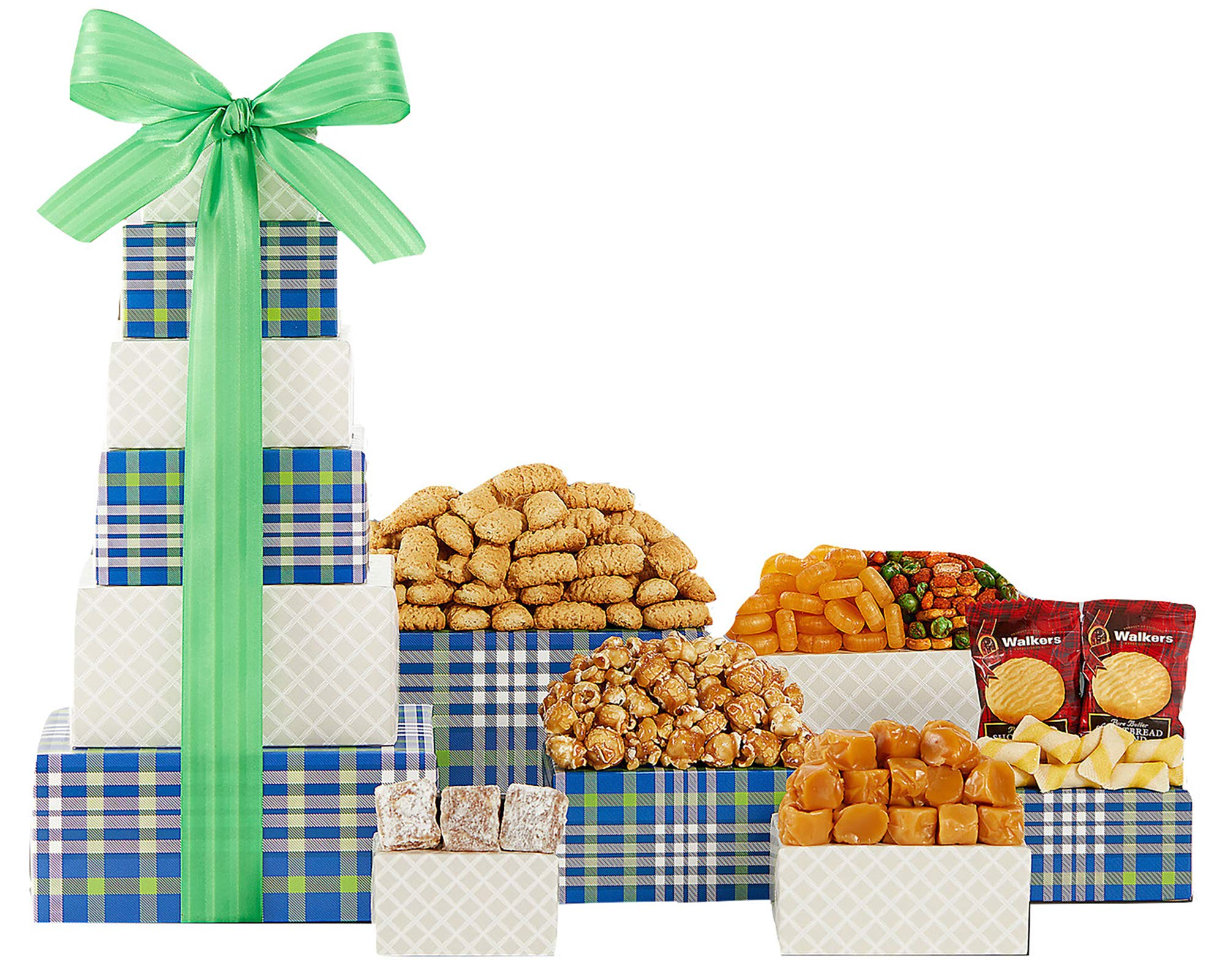 Gift Tower Of Sweets. Token of Appreciation Gift Tower. Perfect For Family Gift, Business Gift, Celebration Gift. A Birthday Gift Tower Favorite. Spectacular Thank You Gift Tower. by Wine Country Gift Baskets (Image #1)
