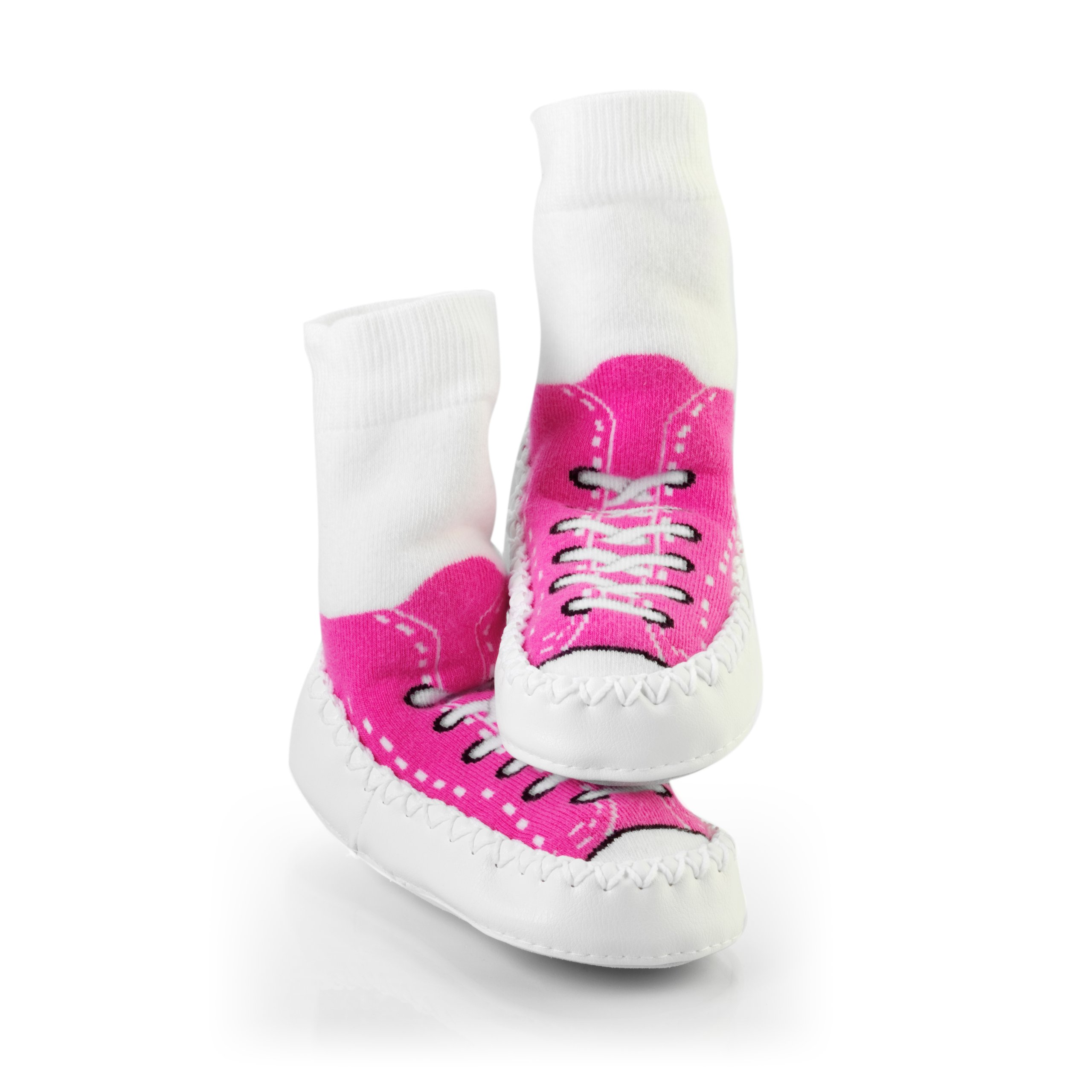 Mocc Ons Sneaker Slippers - 12-18 Months, Fuchsia