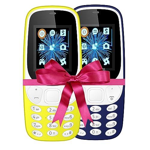 IKALL K3310 Mobile Phone Combo 4.57 cm -1.8 Inch (Yellow & Dark Blue)