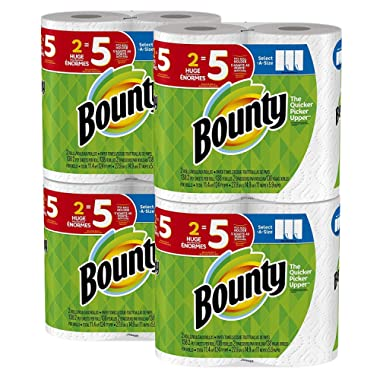 Bounty Select-a-Size Paper Towels, White, 8 Huge Rolls = 20 Regular Rolls