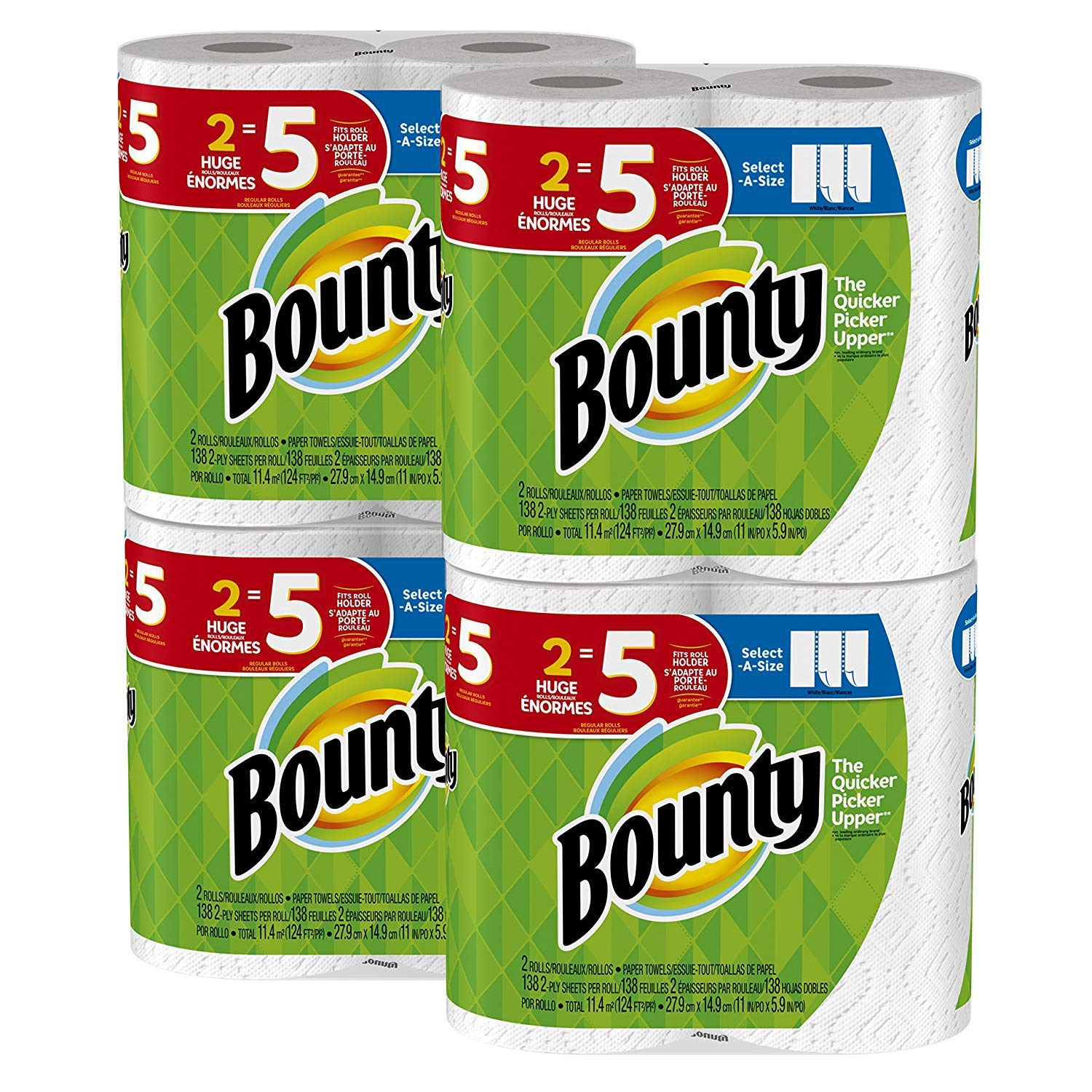 Bounty Select-a-Size Paper Towels, White, 8 Huge Rolls=20
