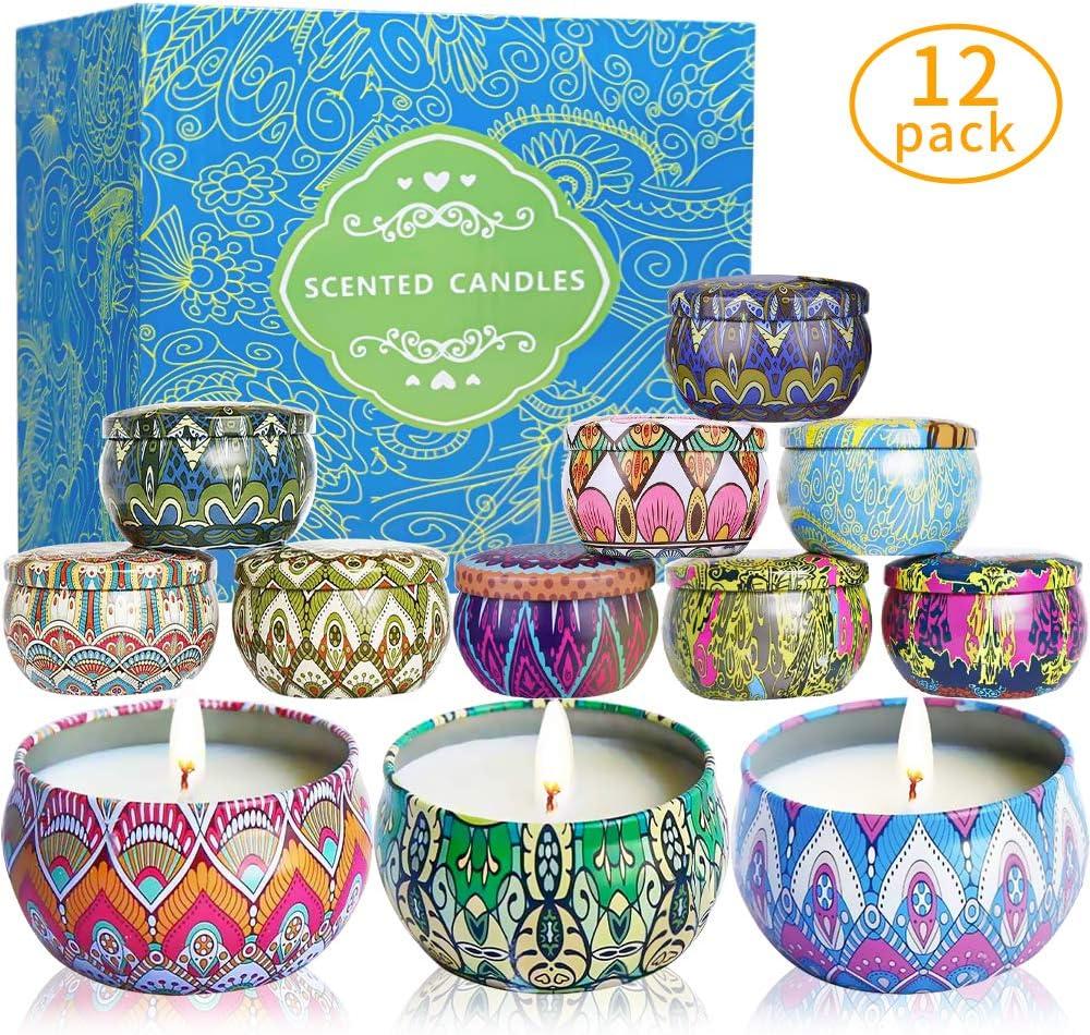 McNory 12 Pack Regalo de Velas Perfumadas,Velas Aromaticas,Cera de ...