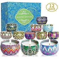 McNory 12 Pack Regalo de Velas Perfumadas,Velas Aromaticas,Cera
