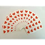 130 Labels , 13x12mm Hearts , Red , Colour Code Stickers , Self-Adhesive Sticky Coloured Hearts