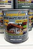 Veleca Legnosan Colors Impregnante all'acqua per legno 750ml (Grigio Scuro)