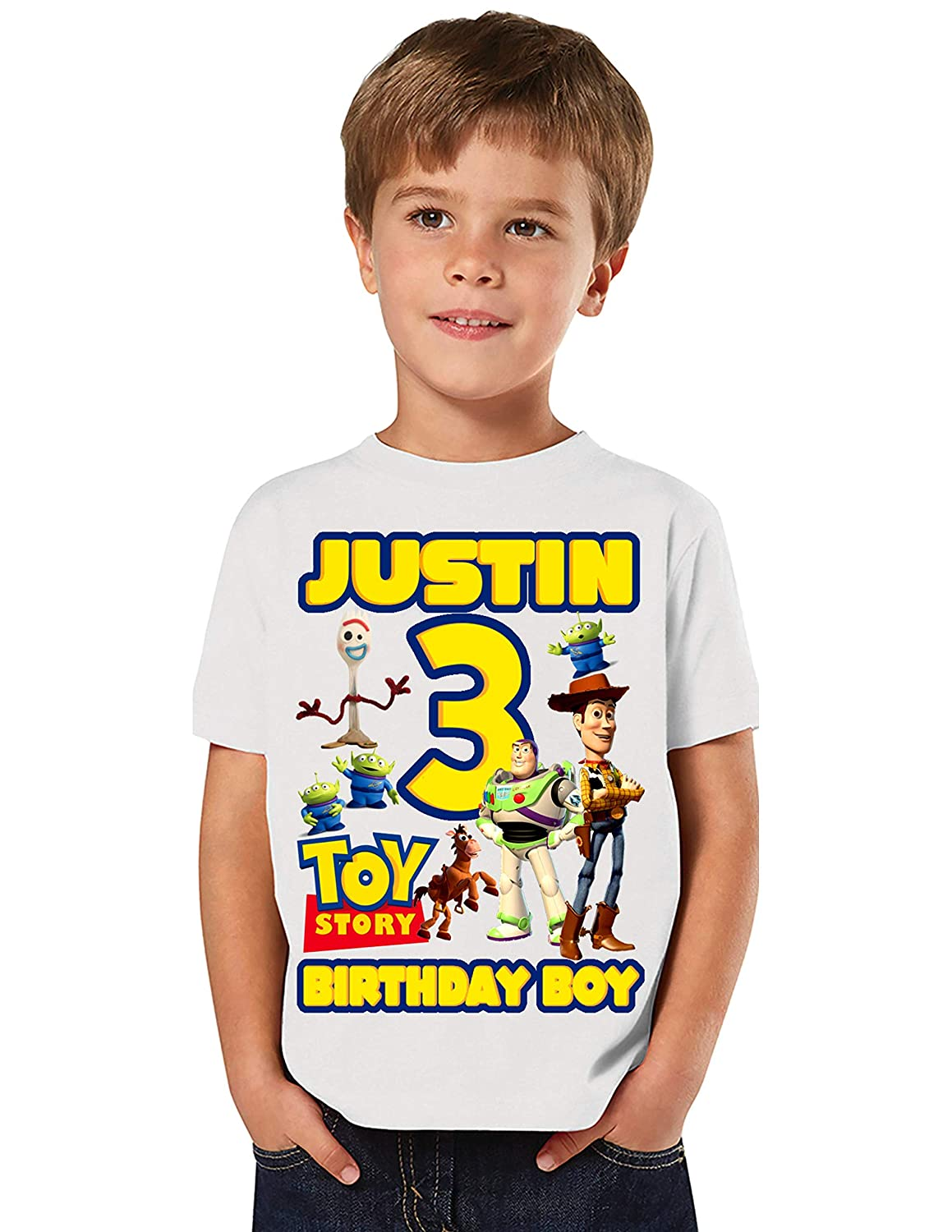personalized birthday shirt name and age boy kids girls birthday shirt with tail