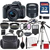 Canon EOS Rebel SL2 DSLR Camera w/ EF-S 18-55mm f/4-5.6 IS STM Lens + Professional Accessory Bundle