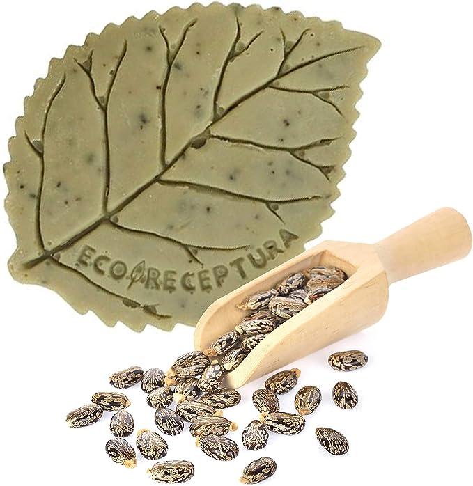 Jabón natural con aceite de ricino, aceite de oliva, aceite de coco, manteca de cacao y manteca de karité - Cuidado facial y corporal a base de principios activos naturales y extracto