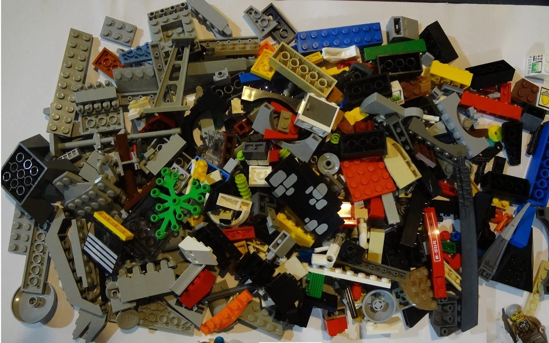 Lego Big Bulk Lot ~1 Pound (LB) Random Bricks/ Specialty Pieces Genuine Lego Brand ~ One Minifigure