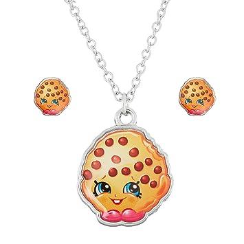 0e5896d5eb Shopkins Little Girls' Food Necklace Earring Jewelry Set, Kitchen ...