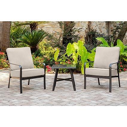 Amazon Com Hanover Cort3pc Ash Cortino 3 Piece Grade Patio Seating