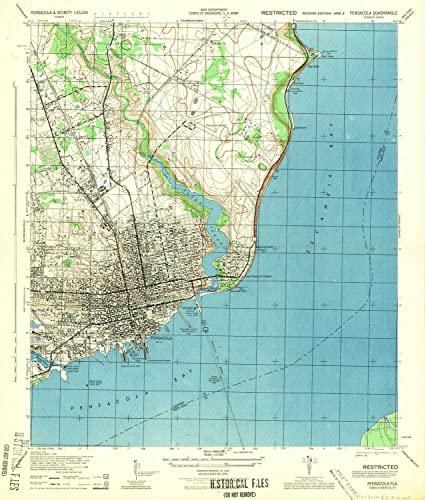 Map Of Pensacola Florida.Amazon Com Yellowmaps Pensacola Fl Topo Map 1 25000 Scale 7 5 X