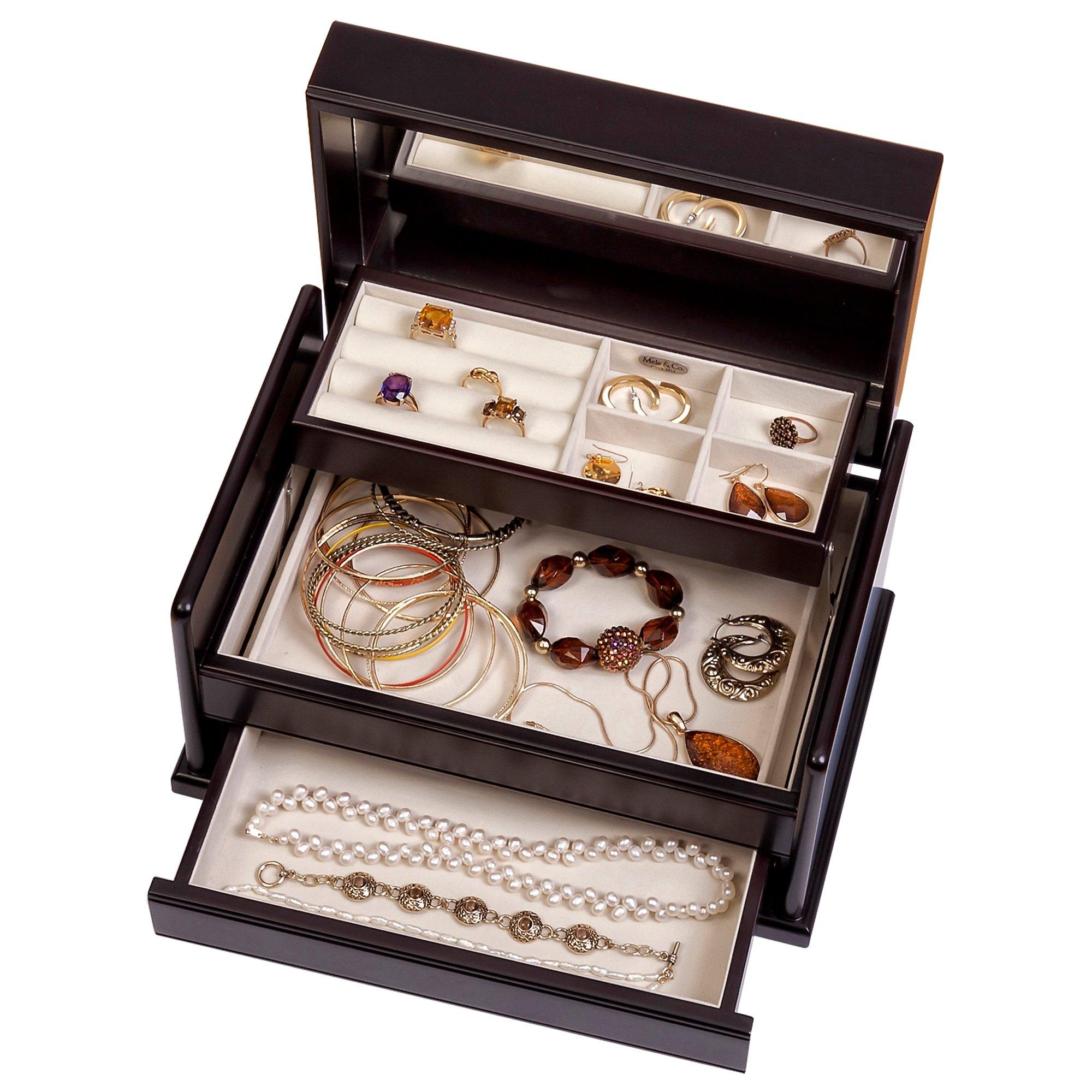 Mele & Co. Juliette Wooden Jewelry Box (Java Finish) by Mele & Co. (Image #3)