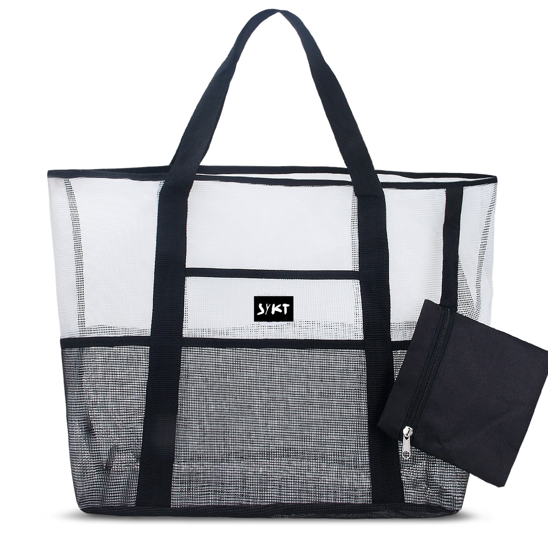 Mesh Large Tote Bag Reusable Grocery Bags Utility Bag Collapsible Heavy Duty Shopping Bag