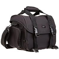 AmazonBasics DSLR Gadget Messenger Bag Large with Grey Interior