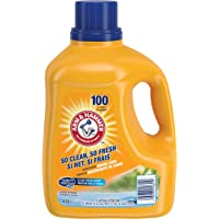 ARM & HAMMER Liquid Laundry Detergent, Clean Fresh Scent, 100 Loads, 4.43-L