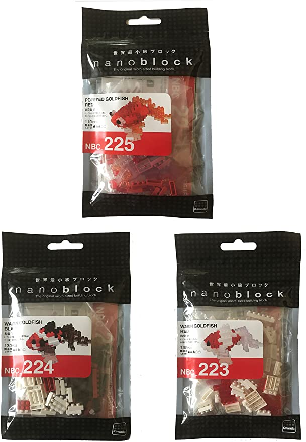 Kawada NBC-223 nanoblock Wakin Japanese Goldfish Red
