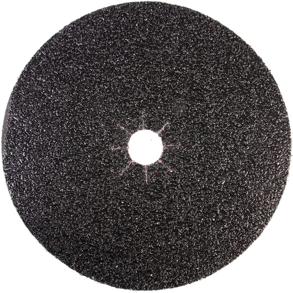 """Mercer Industries 427036 Silicon Carbide Floor Sanding Disc, Cloth Back, 17"""" x 2"""" Hole, Grit 36X, 20-Pack"""