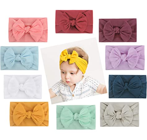 COUXILY Baby Girls Floral Headbands Turban Knotted Headbands Bow Headbands 7-F01