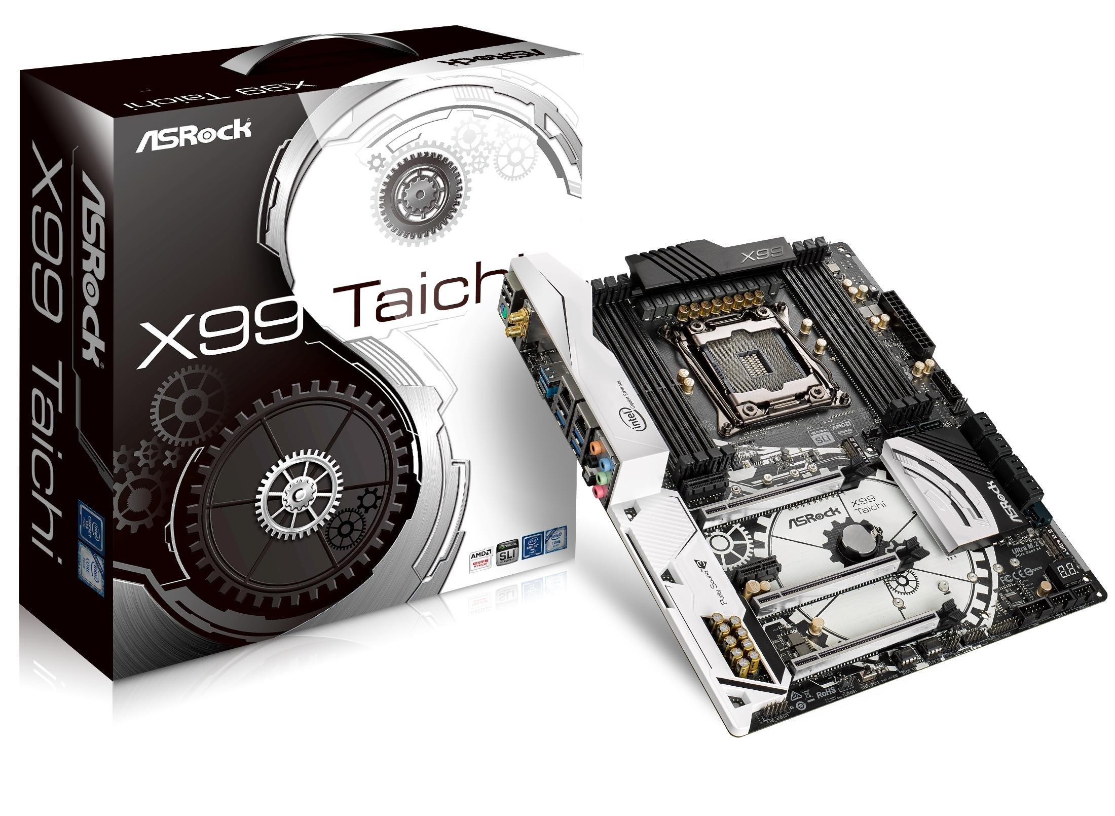 ASRock LGA2011-v3/ Intel X99/ DDR4/SATA3&USB3.1/ Wi-Fi/ATX Motherboard (X99 TAICHI)