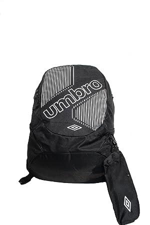Umbro Backpack - Mochila de senderismo, color negro/blanco, talla 42X30X13: Amazon.es: Deportes y aire libre