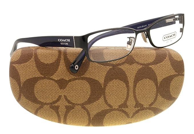 a4607f0c24e5 Amazon.com: Coach Women's HC5031 Eyeglasses Black 53mm: Coach: Clothing