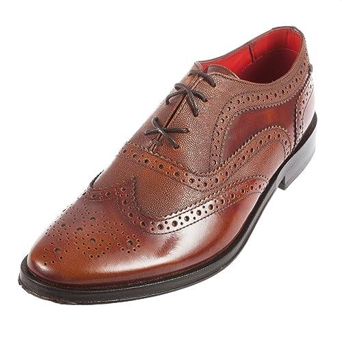 Base London - Zapatos de cordones para hombre rojo canela Tw1gA